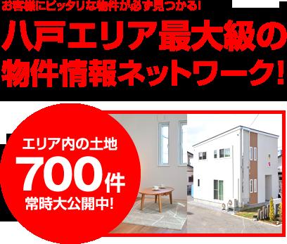 八戸エリア最大級の物件情報ネットワーク!