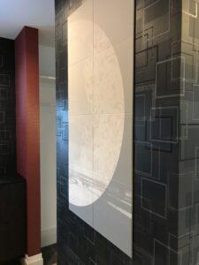 壁と天井を彩るクロス🌈